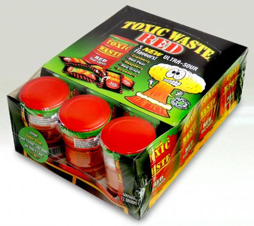 WA02 TOXIC WASTE CANS - RED